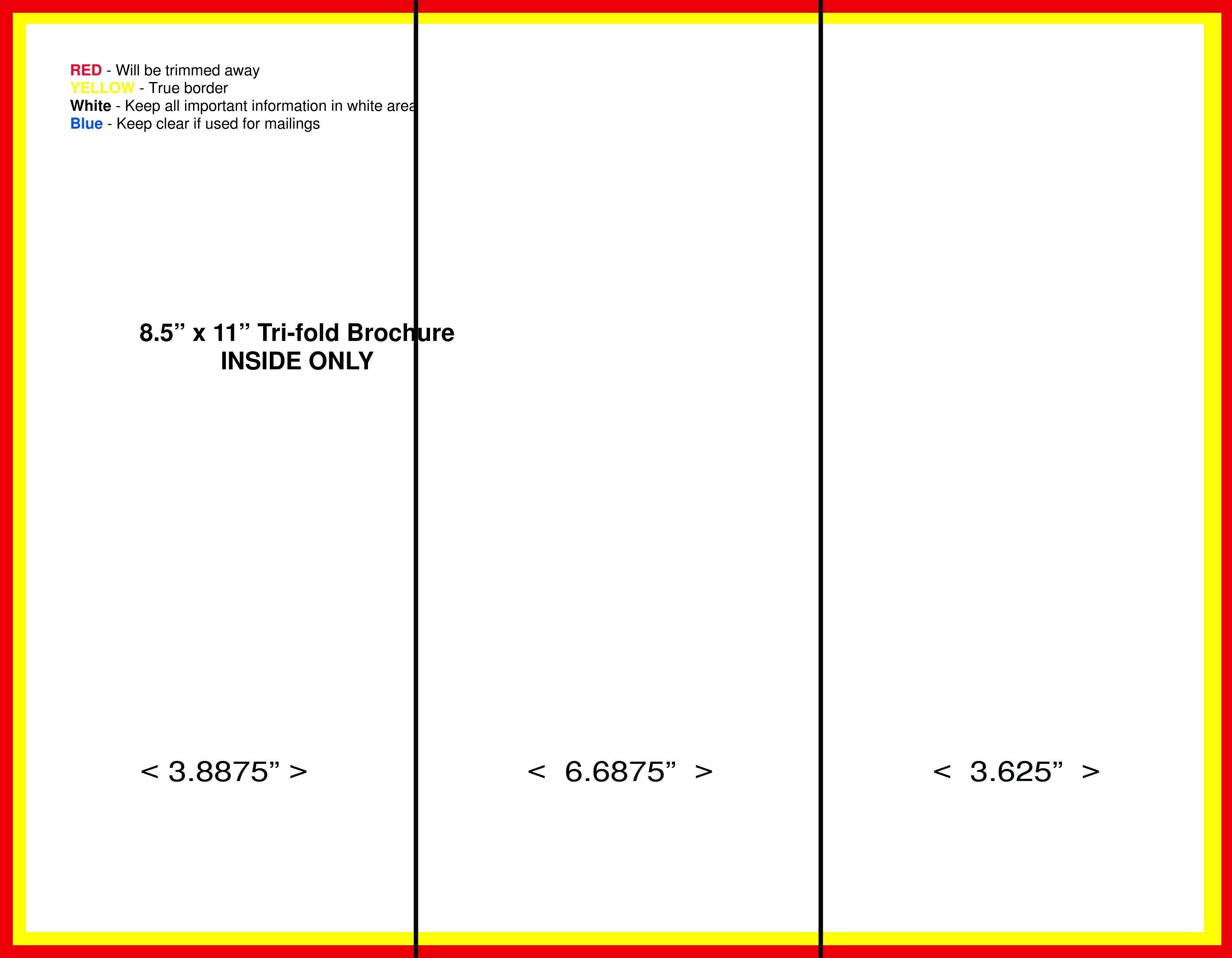 Free Tri Fold Brochure Template New Blank Tri Fold Brochure