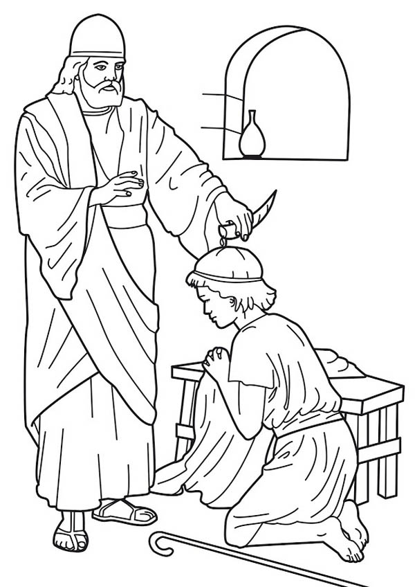 Samuel Anointed Saul As King Saul Coloring Page Netart Sunday School Coloring Pages Bible Coloring Pages Bible Crafts