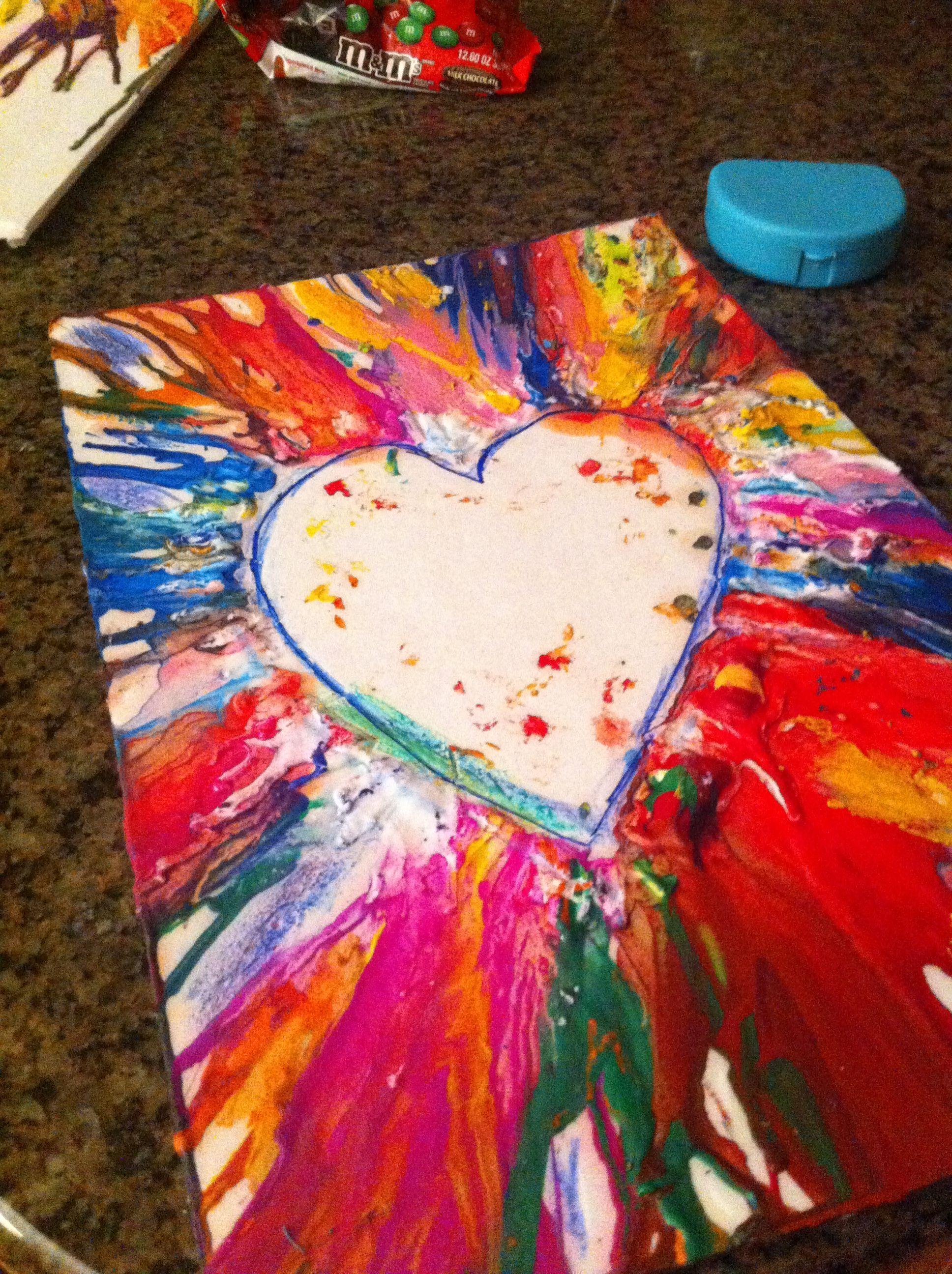 Melted crayon heart #crayonheart Melted crayon heart #crayonheart Melted crayon heart #crayonheart Melted crayon heart #crayonheart