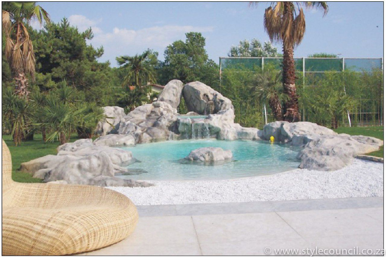 This Beach Pool Was Created To Match The Marble Rocks Of Massa In