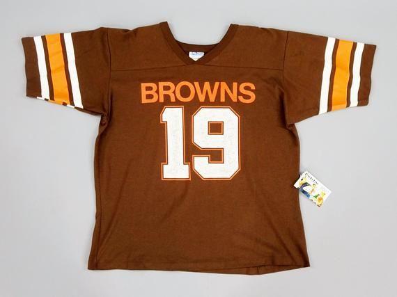 241c4b15 Original 1980s Vintage Cleveland Browns Bernie Kosar No. 19 Football ...