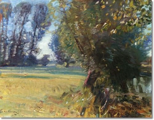 Alfred J Munnings - AJM - Pollarded Willows - Approximate Original Size - 14x18 Painting