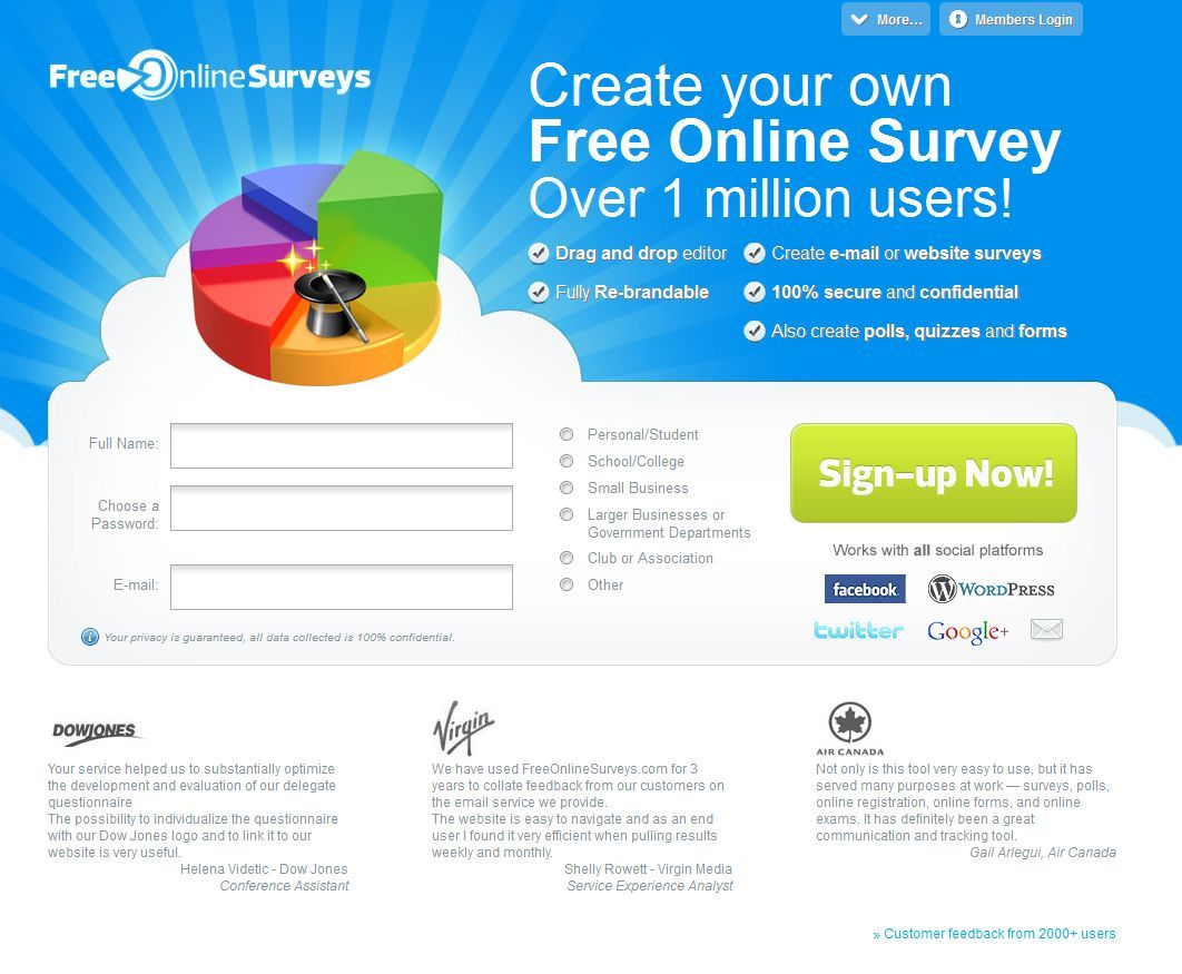 free online surveys create your own free online survey over 1