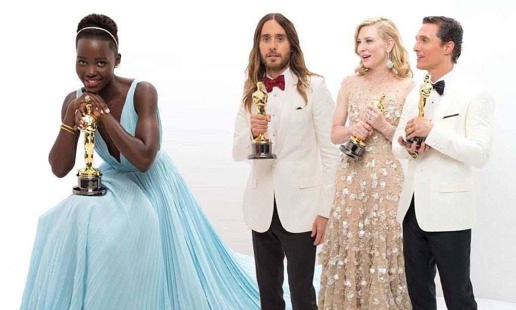 Oscar winners Lupita, Matthew, Jared and Cate pose for portraits