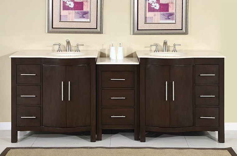 silkroad modular bathroom vanity hyp 0912lmr cream marfil top rh pinterest com Prefabricated Bathroom Vanities modular home bathroom vanity