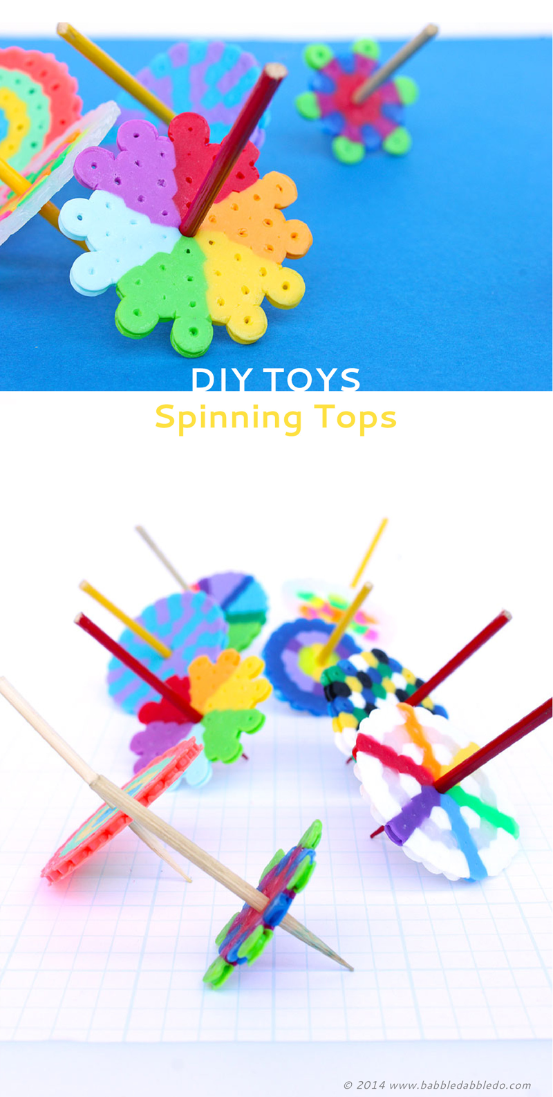 DIY TOYS: Spinning Tops (+ Magical Disappearing Colors) - Babble Dabble Do