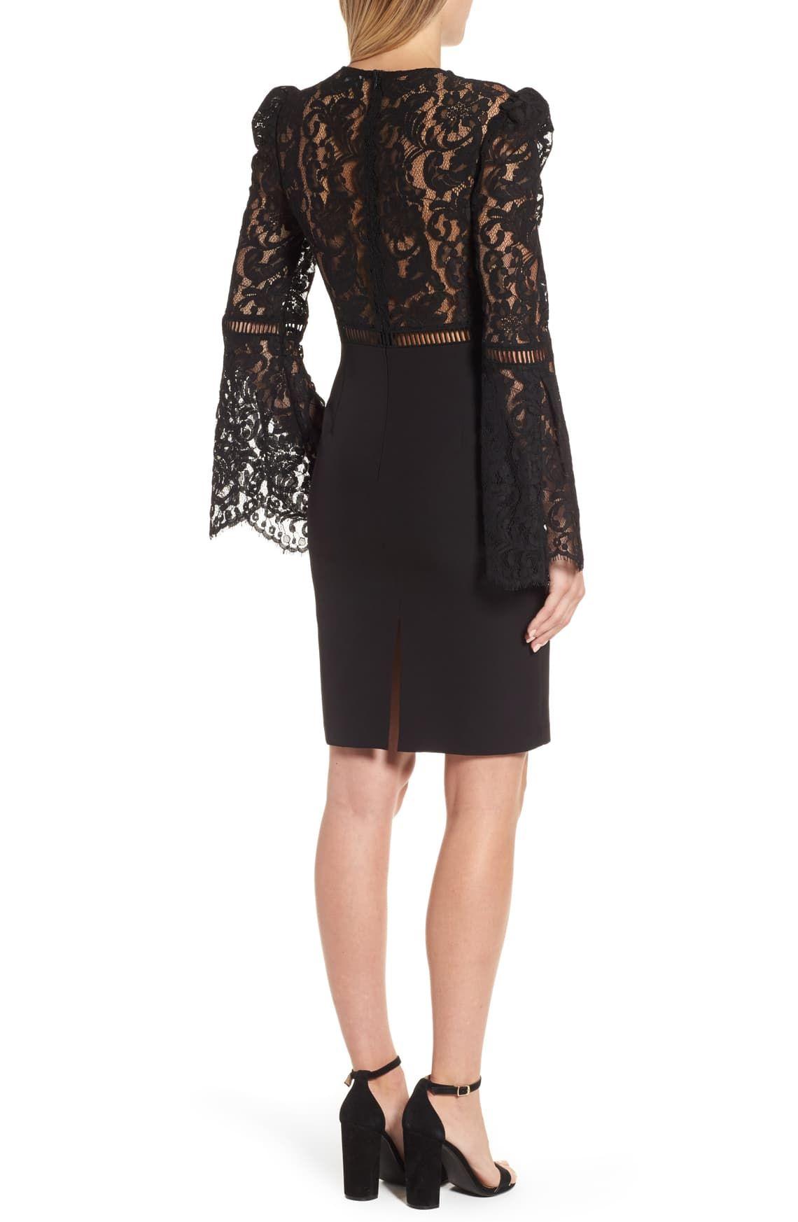 Bardot Lace Bodice Cocktail Dress Nordstrom Cocktail Dress Little Black Cocktail Dress Dresses [ 1746 x 1140 Pixel ]