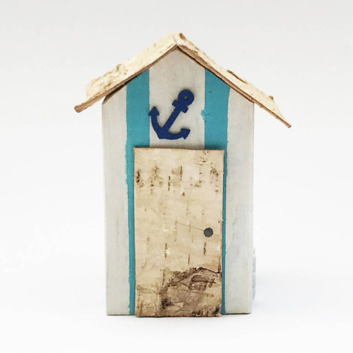 Beach Hut Ornament Bathroom Accessories Nautical Coastal Etsy In 2020 Beach Bathroom Decor Beach Hut Bathroom Beach Hut