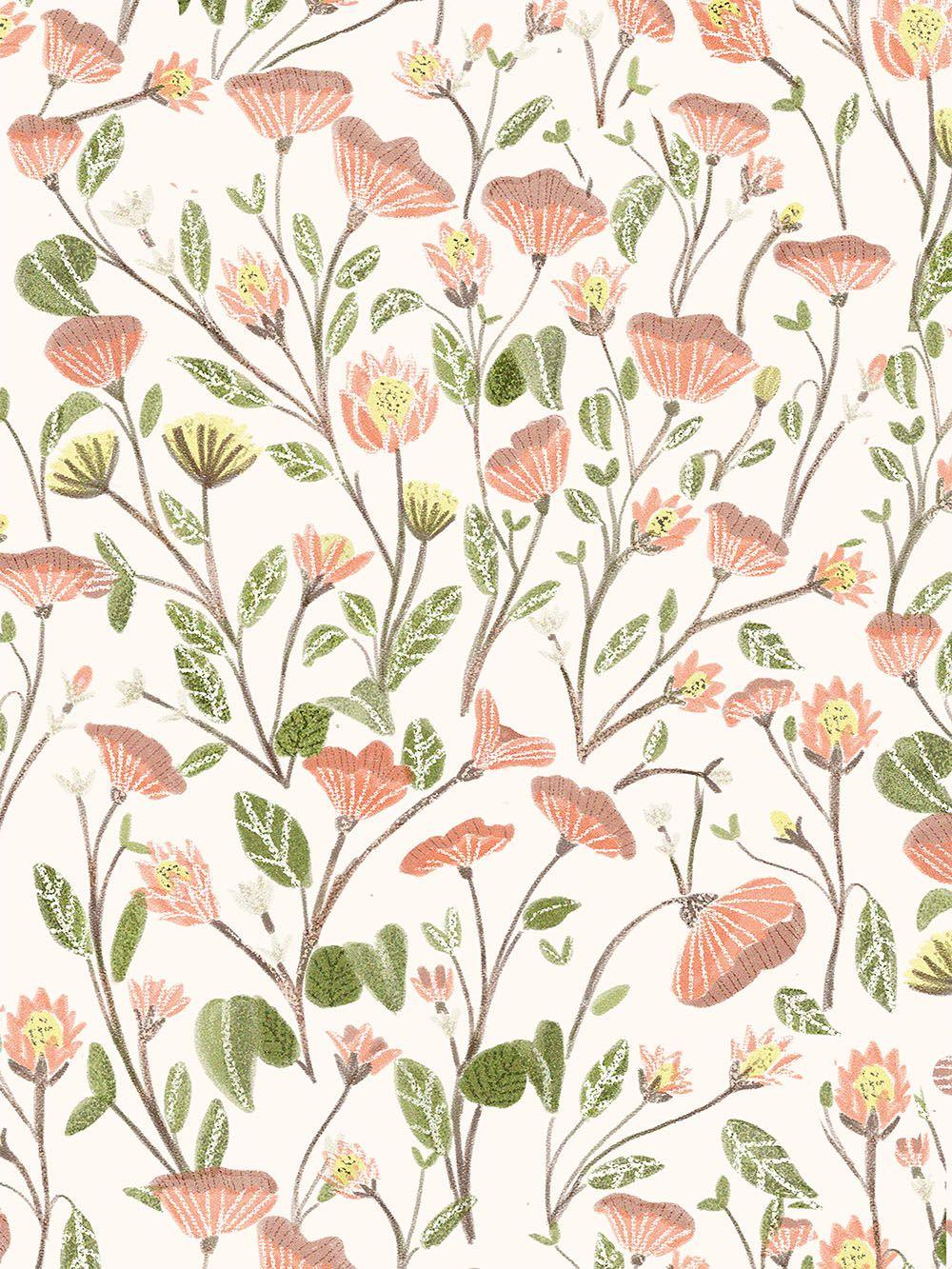 Spring Floral Pattern Flower Background Design Spring Pattern