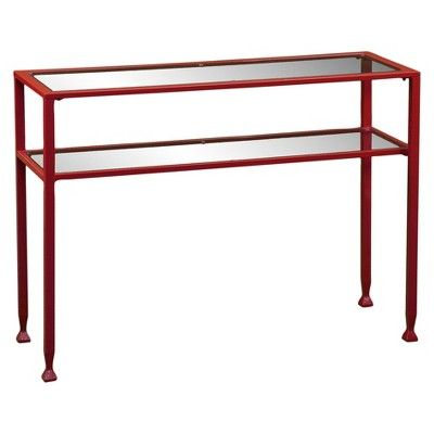 Jamel Console Table Red Aiden Lane Metal Console Table Console Table Glass Console Table