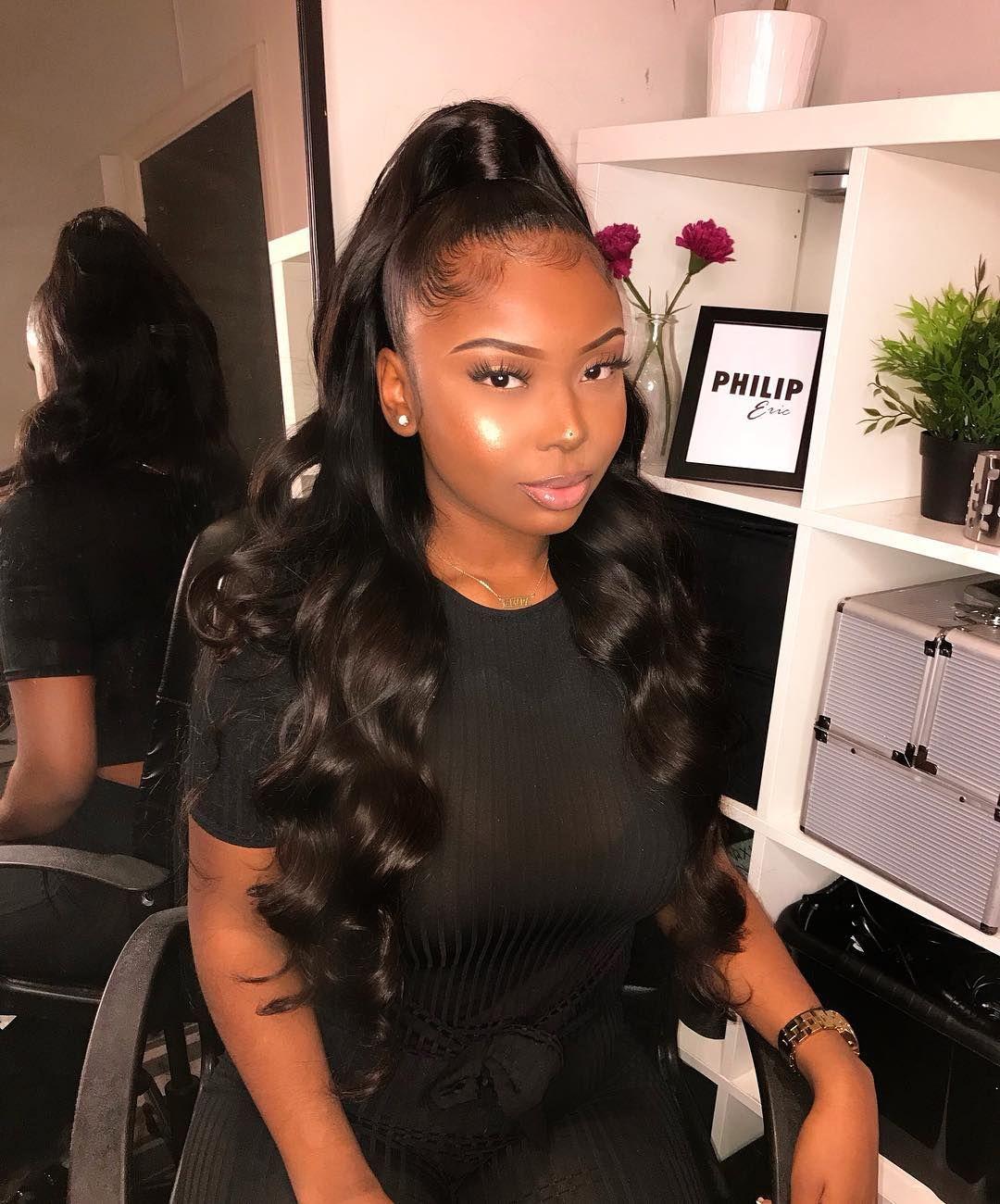 Sweetest 1 Half Up Half Down Slay By Philiperichair With My New Bodywave Hair Short Hair Styles For Round Faces Hairstyles For Round Faces Long Hair Styles