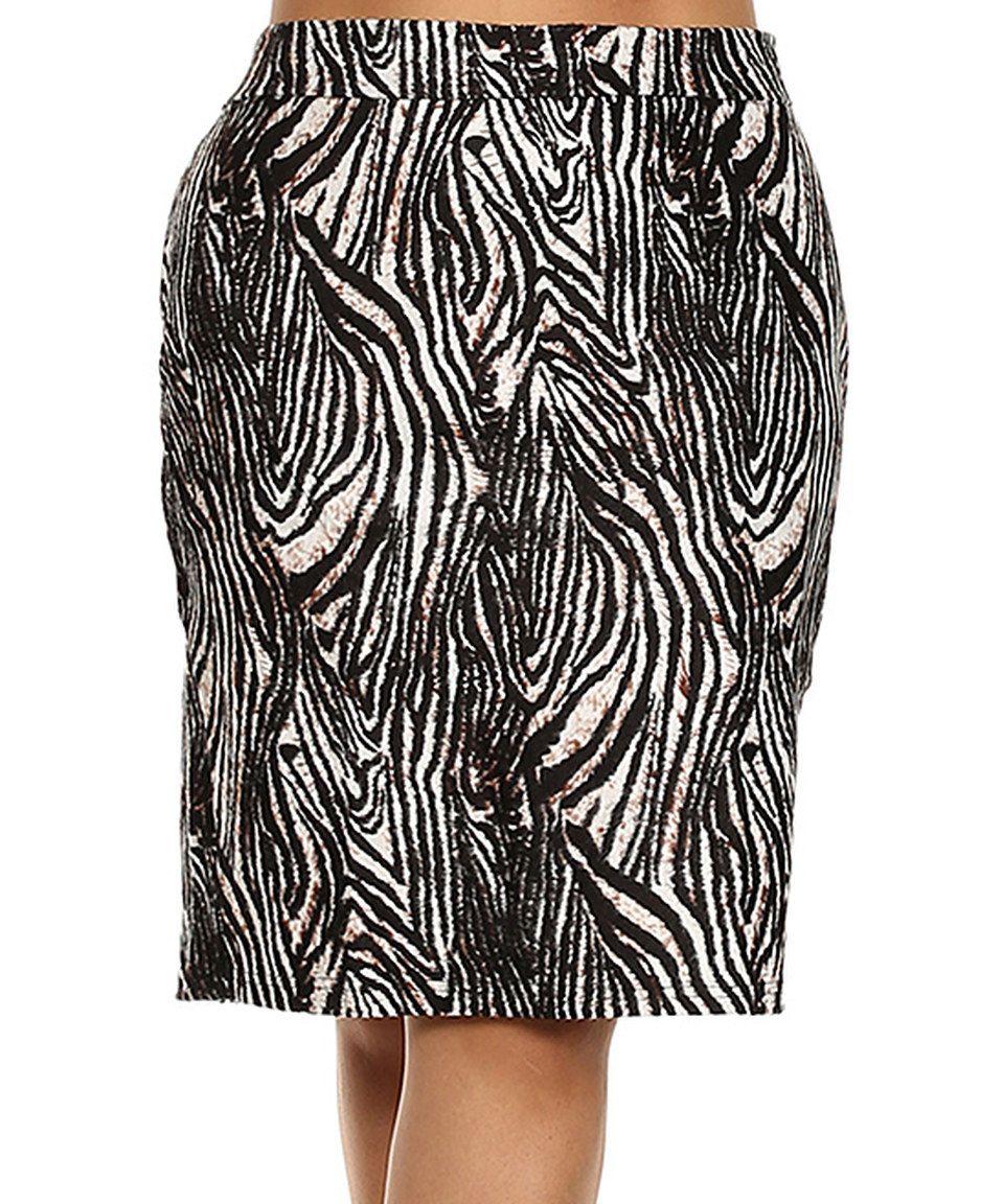 Look what I found on #zulily! BellaBerry USA Black Zebra Pencil Skirt - Plus by BellaBerry USA #zulilyfinds