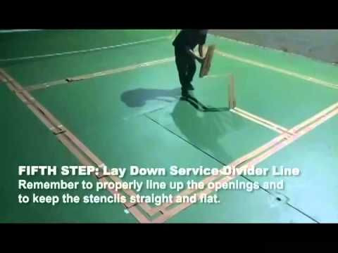 The Court Stencil Is The Best System For Painting Your Own Pickleball Court Lines Includes Folding Stencil And Paint Watch Pickleball Court Pickleball Court