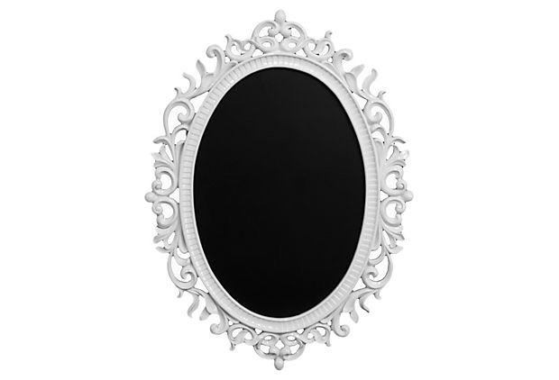 Any Of You Have An Old Fashioned Mirror Shaped Like This I Do And You Could Totally Turn It Into A Spiffy Looking Ch Tattoo Shop Decor Glam Decor Home Decor
