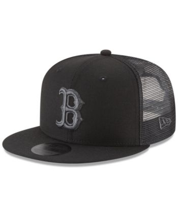 best sneakers 792c3 04410 New Era Boston Red Sox Blackout Mesh 9FIFTY Snapback Cap - Black Adjustable