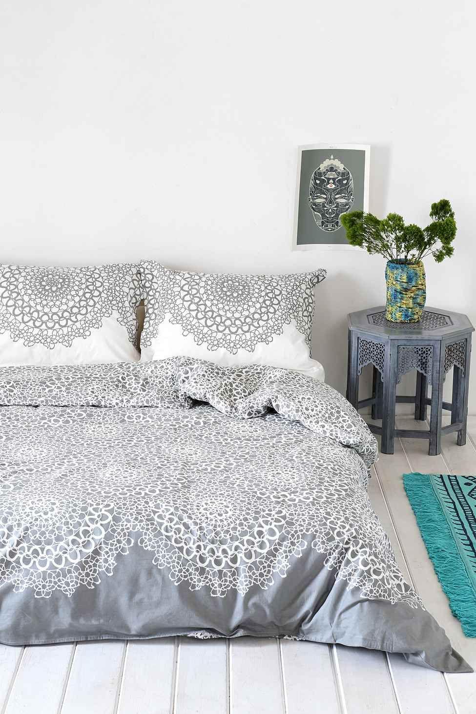 Gossamer Double Duvet Cover in Grey For the Home Pinterest