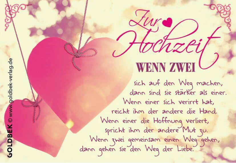Hochzeit  spruchkarten  Pinterest  Sprche hochzeit