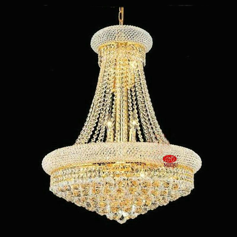 Free Shipping Luxury European Style K9 Crystal Chandelier Lustre De Cristal  Home Decoration Lighting Fixture With