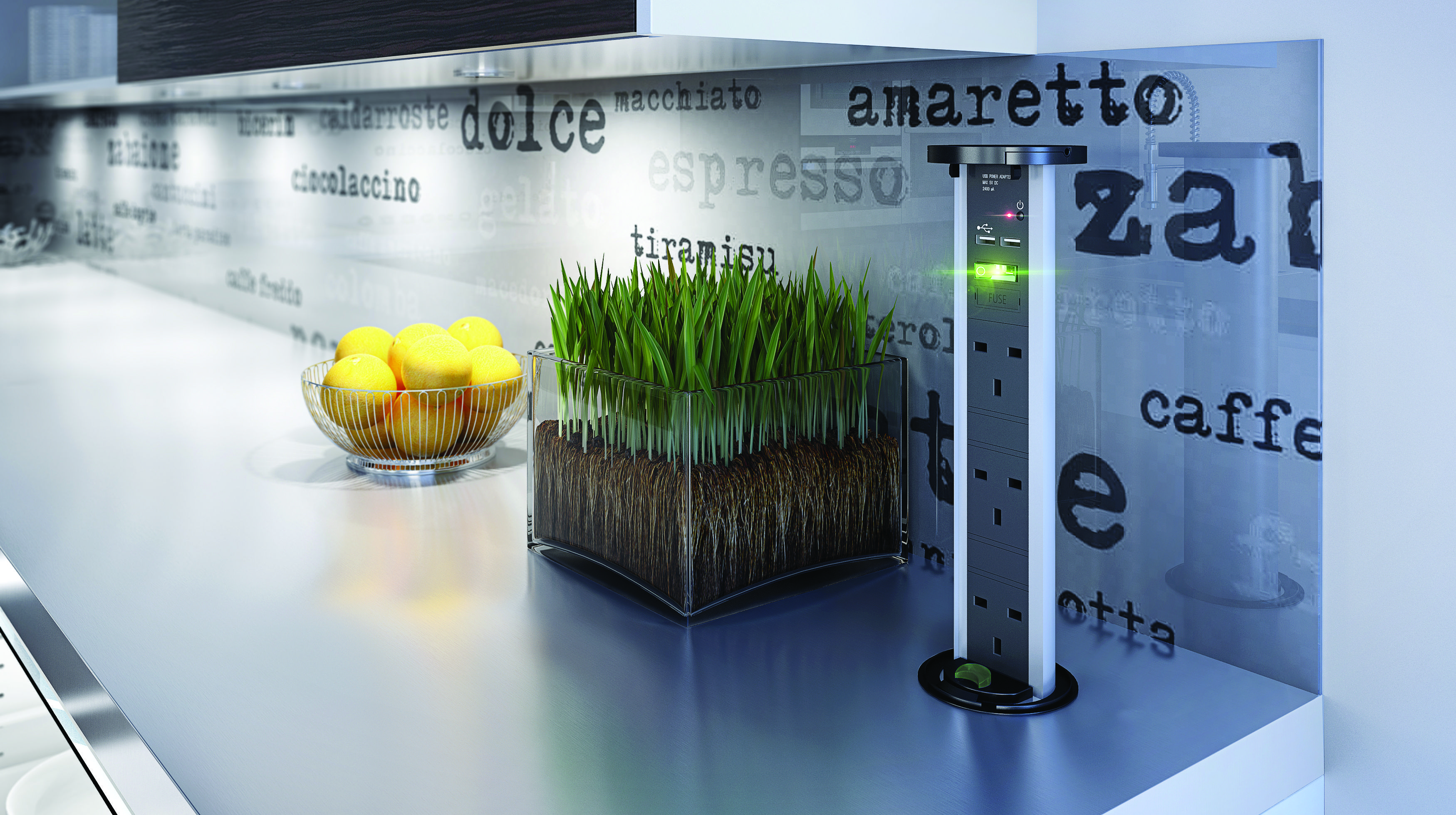 Future kitchen product, the new SensioPod which features USB and ...