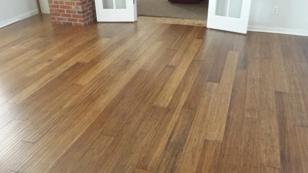 Bamboo Flooring Honey Strand Distressed Wide Plank Click Solid