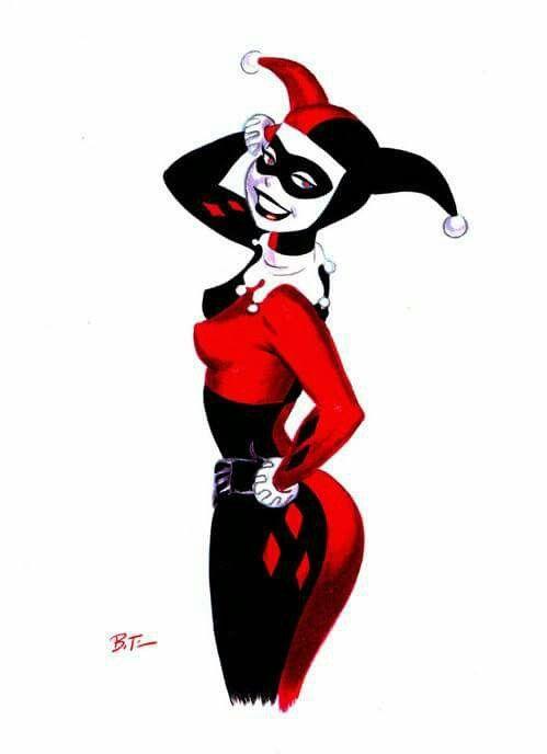 Harley Quinn Crimson Eyes