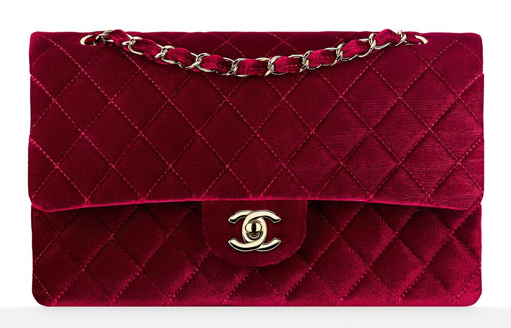 4daed93d3206 Chanel-Velvet-Classic-Flap-Bag-3700-Burgundy | Fashion Accessories ...