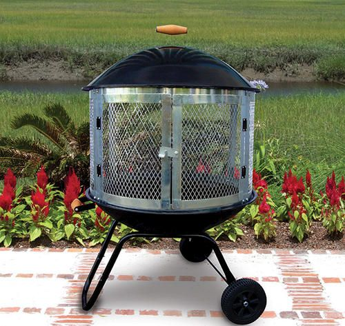 Backyard Creations 28 Portable Fire Pit At Menards Fire Pit Essentials Outdoor Fire Pit Fire Pit Backyard