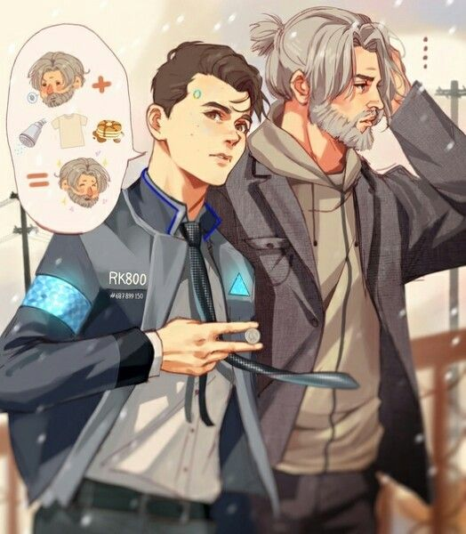 Detroit become human   DBH   Connor and Hank   Detroit: Become Human