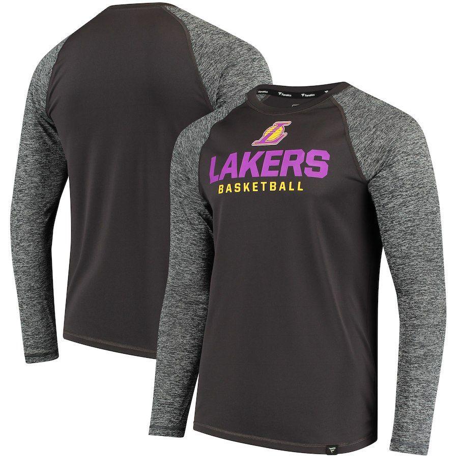44ac04ee1ed Men's Los Angeles Lakers Fanatics Branded Black Static Long Sleeve T-Shirt