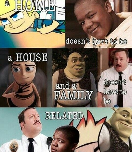 anime memes buzzfeed: A Home Doesn't Have To Be A House, And A Family Doesn't