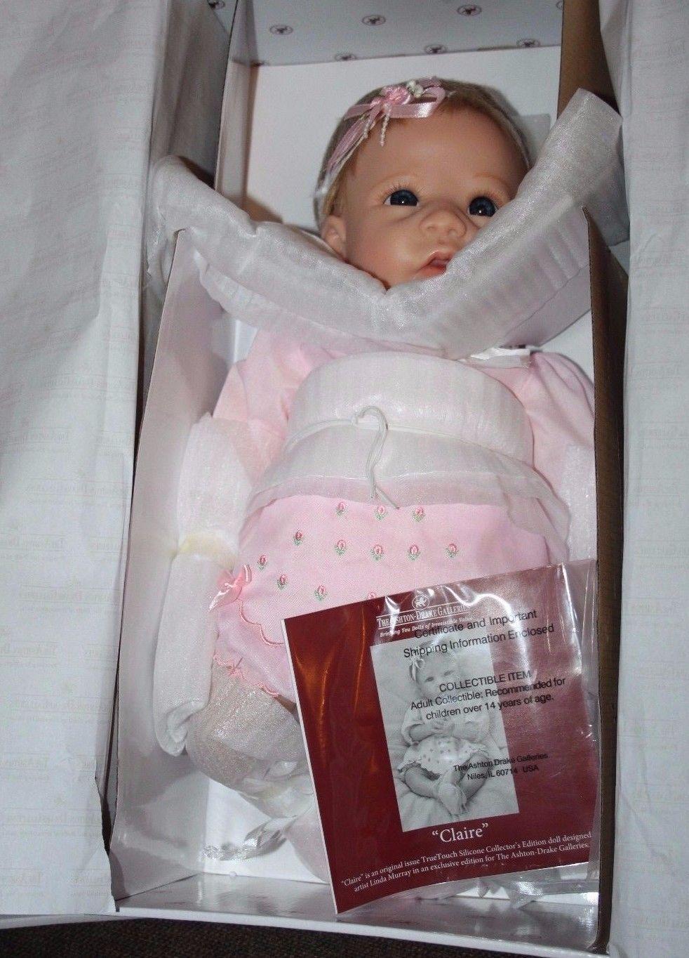 Ashton Drake Claire TrueTouch™ Silicone Lifelike Baby Doll 18