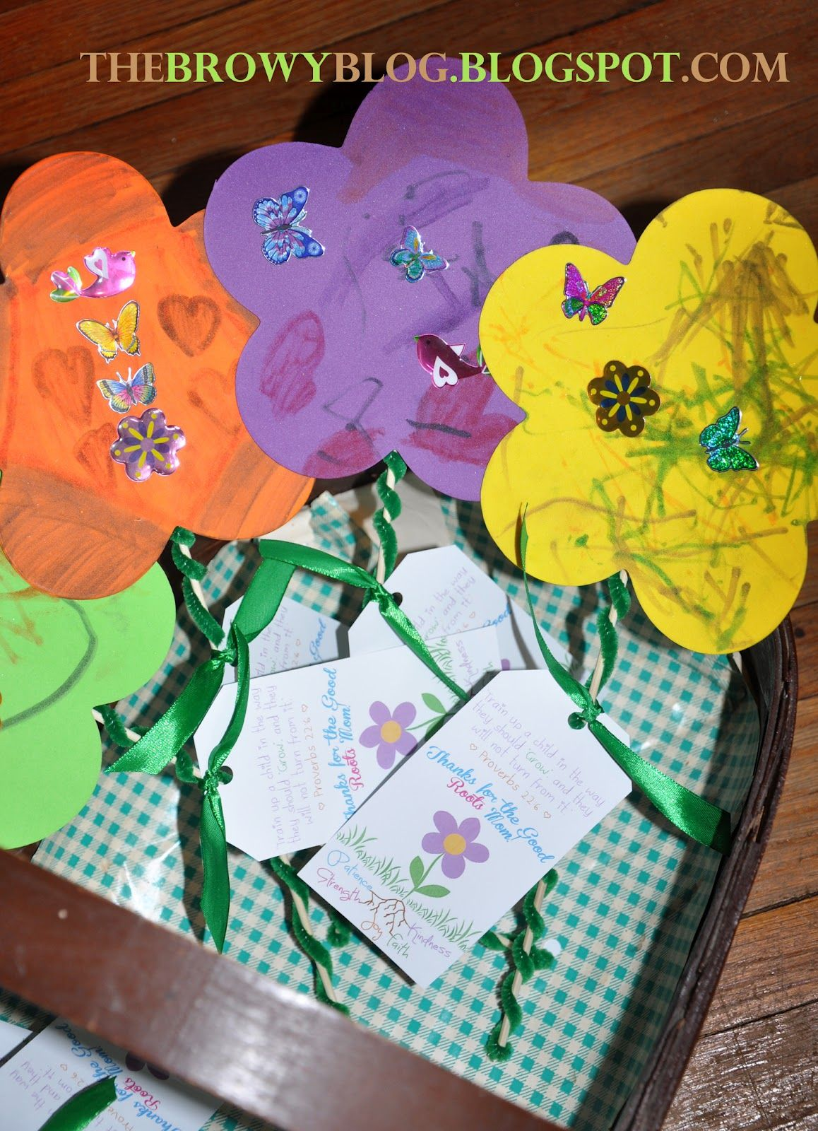 the browy blog: mother's day sunday school craft | | church
