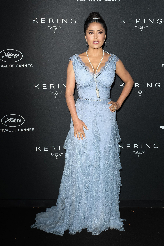 Salma Hayek At Kering Women In Motion Awards Dinner At Cannes Film