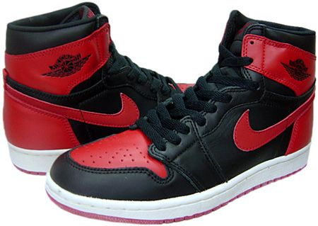 air jordan 1s red and black