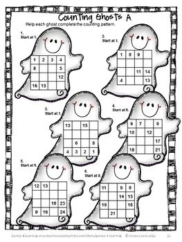 Counting puzzle for Halloween from Halloween Math Games