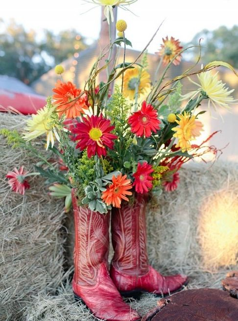 Inspired by A Down Home Rehearsal Dinner (barnyard bouquets cowboy gerber a charleston bride kellie kano) - Lover.ly