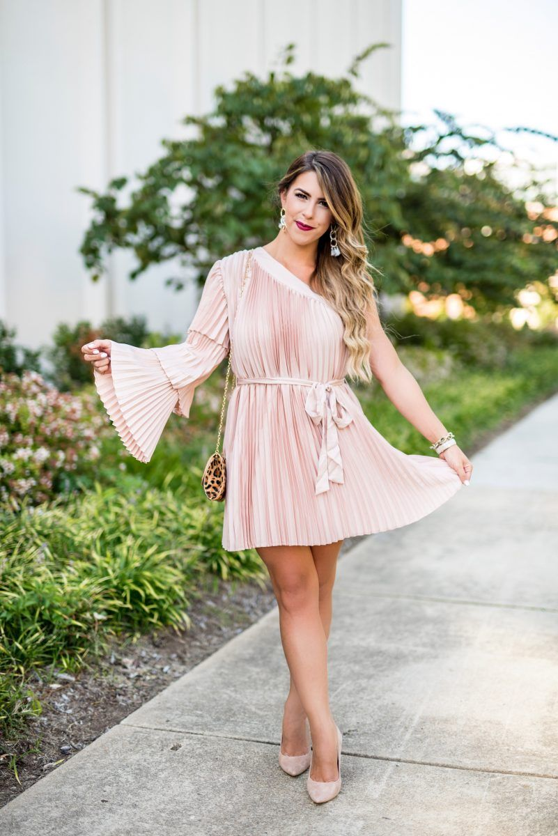Fall Wedding Guest Attire  Pink Spring Dresses  Pinterest  Blush
