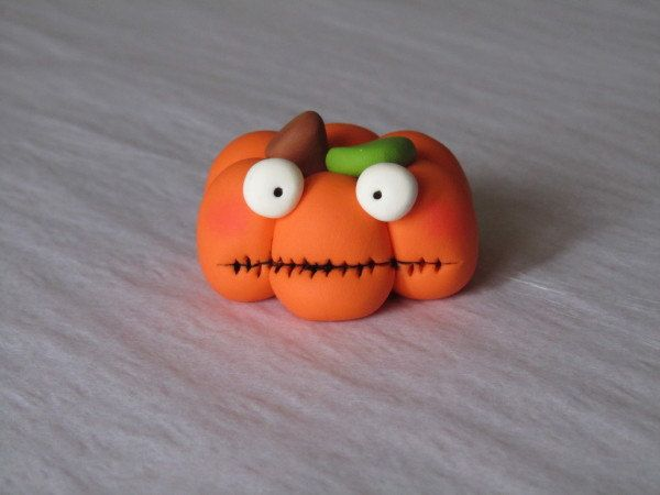 Whimsical Pumpkin by ClayPeeps on Etsy