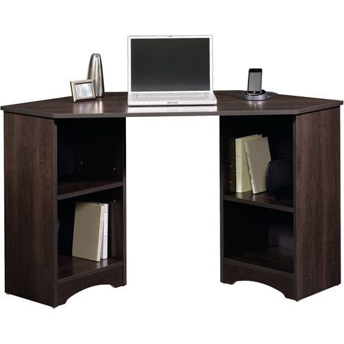 Student Corner Desk Dorm College Office Furniture Computer Cinnamon Cherry Sauder