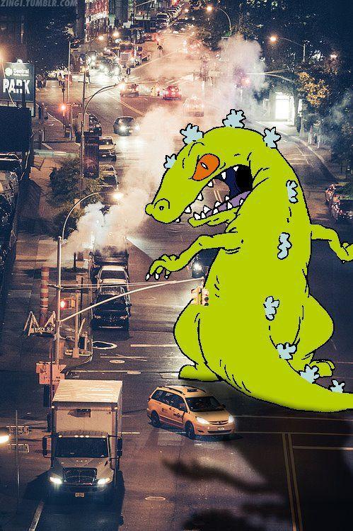 #dinosaur #cartoon #neon   Rugrats, Art wallpaper, Cartoon