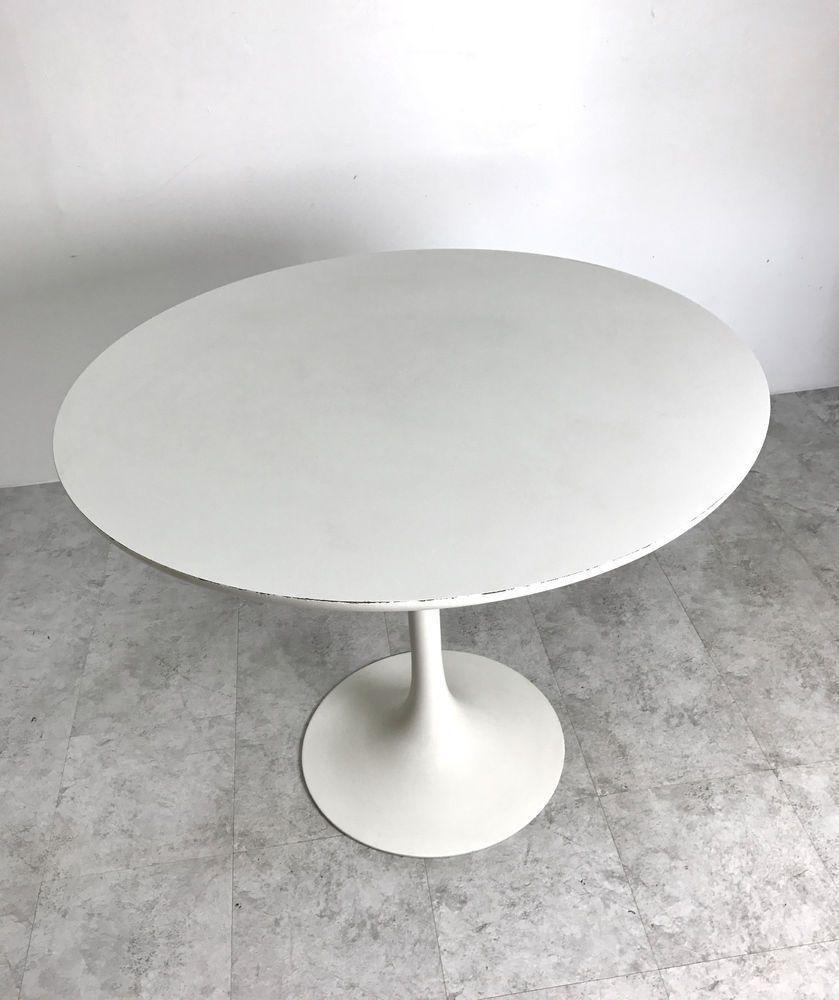 Vintage Mid Century Modern 36 Round Tulip Dining Table By Burke Saarinen Style Midcenturymodern