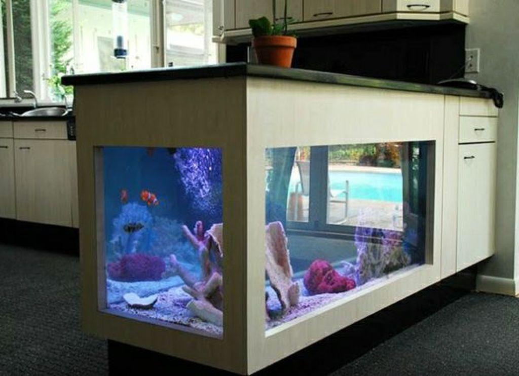 40 Best Ocean Kitchen Island Design Ideas With Unique Aquarium To Have In 2020 Kitchen Island Design Island Design Custom Kitchen Island
