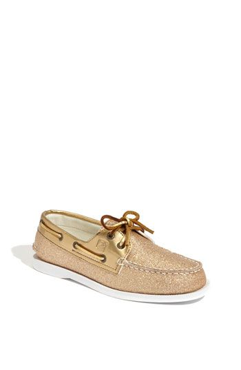 ffe019c1d187 Little Kid Sperry Top-Sider® 'Authentic Original' Glitter Boat Shoe |  Nordstrom