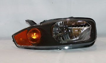 2003 2005 Chevy Cavalier Chrome Clear Euro Headlights Tyc Right Penger