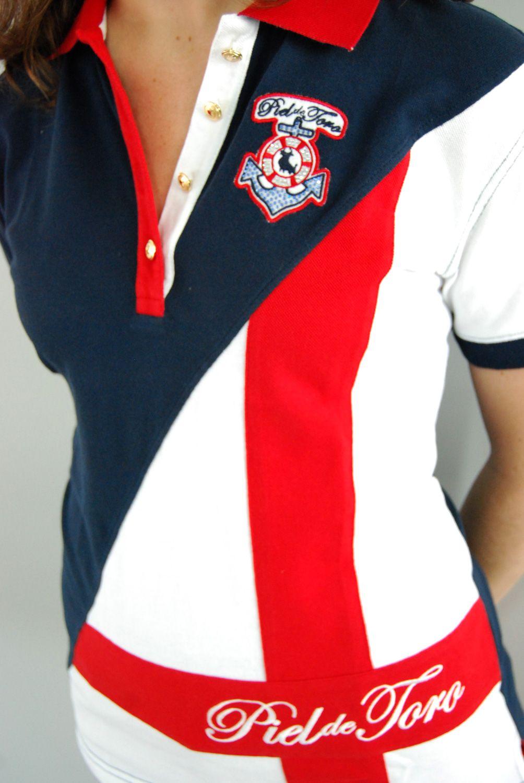 Del diseño a sus colores  del bordado hasta el último botón. Nuestros  polos  están hechos con mucho cariño  mujer  moda  verano e415077e61133