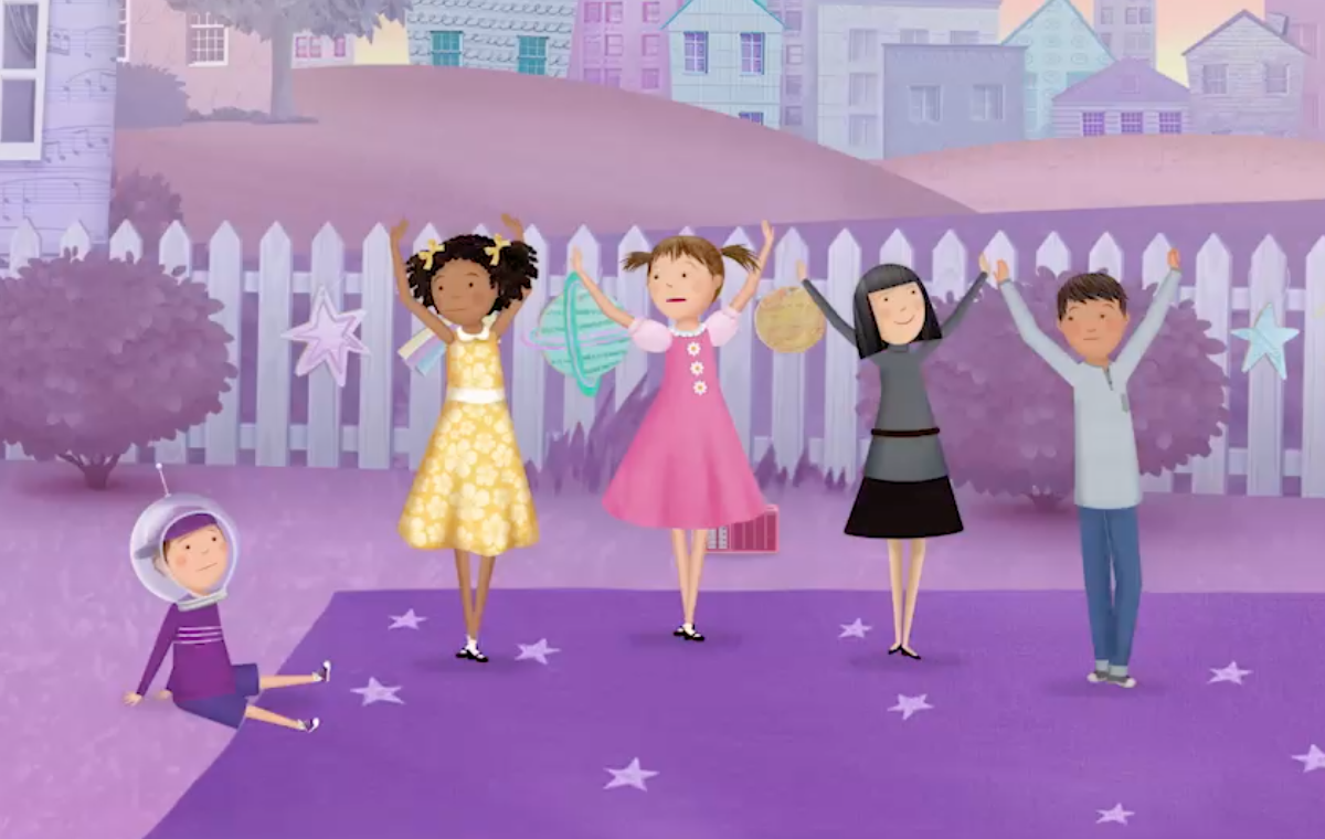 Pinkalicious And Her Friends Are Creating A Space Dance But Peter Is Having A Little Trouble With The Steps Watch P Pbs Kids Pinkalicious Pbs Learning Media
