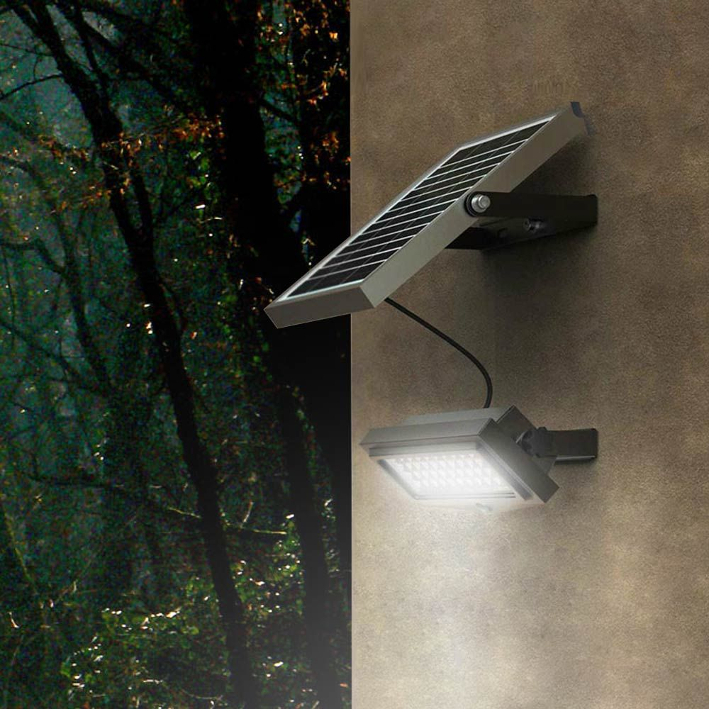 Flood Faretto Luce Solare Led 1000 Lumen Da Esterno Wall Lamp Lamp Solar Lights