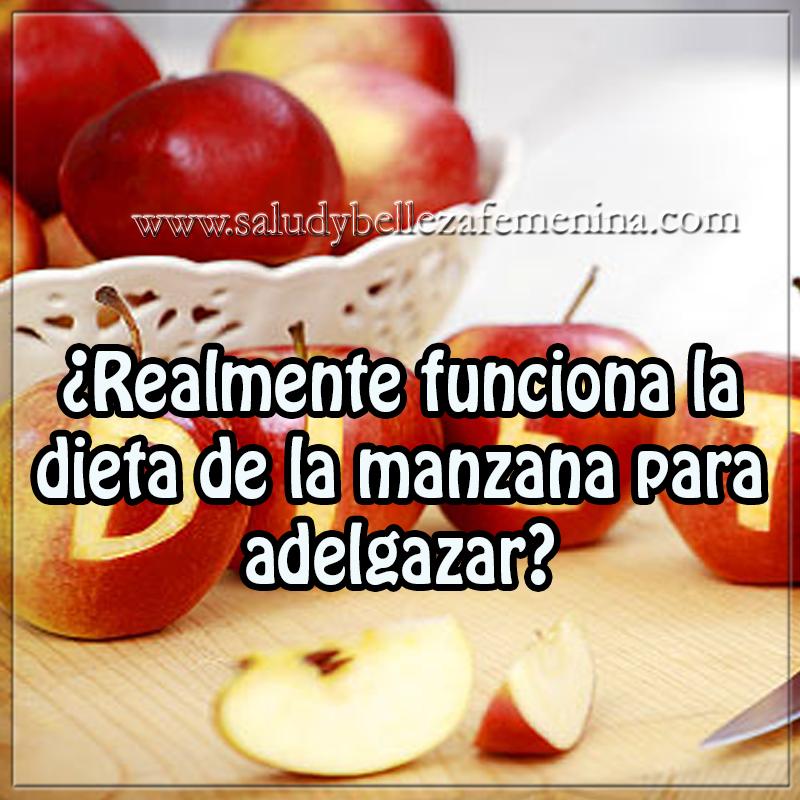 ¿Realmente funciona la dieta de la manzana para adelgazar?