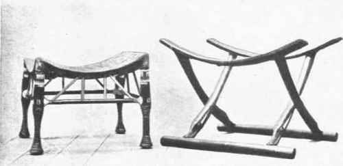 Brilliant Fig 3 Ancient Egyptian Stools One With Hide Seat Made Of Ocoug Best Dining Table And Chair Ideas Images Ocougorg