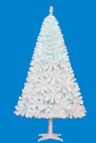 6 5ft Colorado White Christmas Tree Blue Lights